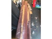 Mahogany wood decking or fencing