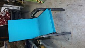 2 chaises aluminium aqua