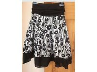 Black and white floral skirt 8