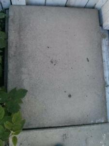 Cement sidewalk 30 x 24 patio blocks