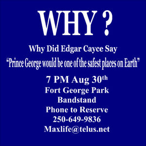 Edgar Cayce Meetup at Bandstand at Fort George Park