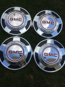 Set of Vintage Truck Hubcaps