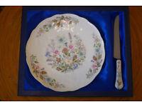 Aynsley Wild Tudor Plate and Knife Set in Presentation Box