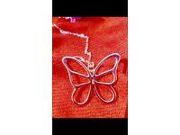 Silve butterfly on chain