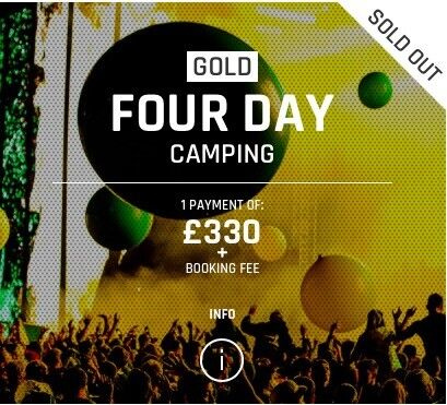 3 x GOLD Creamfields Thursday - Monday Camping Tickets £350 (£330+Booking)