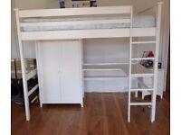 JULIEN BOWEN BARCELONA Childs High Sleeper Bed in White Collect PR8