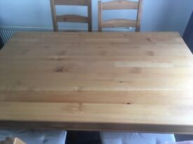 Ikea table and 4 chairs brilliant condition widnes pick up