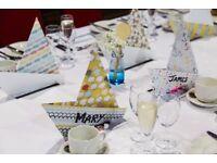 Blue ombre milk bottles for sale x 6 - wedding table decoration