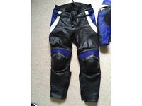 Frank Thomas Ladies Leather bike jacket and matching trousers size 12