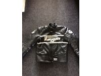 Furygan leather motorbike jacket size large