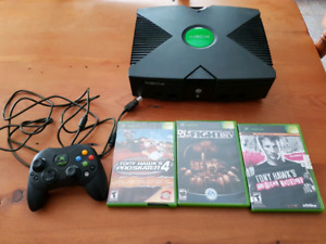 Original xbox system with games works great