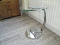 Occasional Table glass and chrome finish