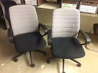 5 x used, matching office chairs £25 the lot
