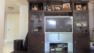 Solid Cherry Wood wall unit  This unit is in great condition! So