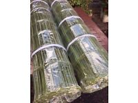 10 metres heavy extra tough metal coated green pvc fencing.