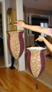 2 HANGING LAMPSHADES ( plus additional stuffs for sale )