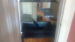 rat/rodent cage, large with multi levels + accessories