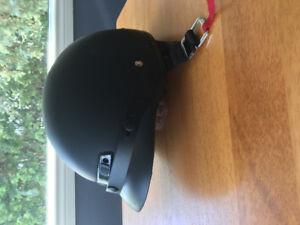 Black motorcycle helmet. XL