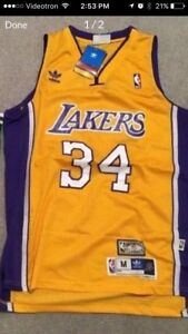 New with tags - LA Lakers - Shaquille Shaq O'Neil retro jersey