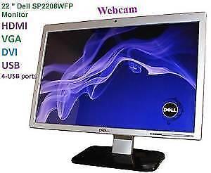 LCD DELL 22 POUCES WEBCAM,MICRO ET HDMI