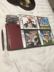 DSi XL Wine Red with 4 great games!