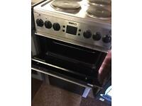 SILVER BEKO DOUBLE OVEN ELECTRIC COOKER GREAT CONDITION