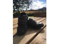 Clark's Boys Black Leather School Shoes