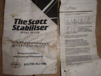 Scott Stabilser-Towbar Brackets/Plate/Spacer/Keys-Fitting Instructions for Caravan/Trailer