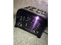 Morphy Richards purple toaster