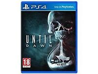 Until Dawn PS4 in excellent condition