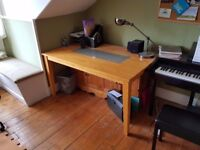 Solid Wood Desk 900mm x 1500mm