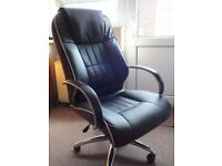 Leather office chair for larger person,.