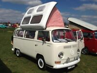 FOR SALE - Gorgeous VW T2 Early Bay Campervan in Lotus White. Born Jan 1969. Beautifully restored.