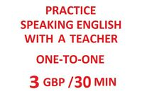 3 GBP/30 MIN -SKYPE - I AM A NON NATIVE ONLINE ENGLISH TEACHER, BUT...