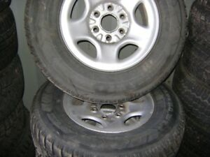 23/75/16 winter tires on rims set of 4