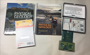 Physical Geology Textbook and supplies