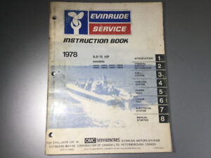 1978 Evinrude 9.9 & 15 HP Outboard Motor Service Manual 2 cyl