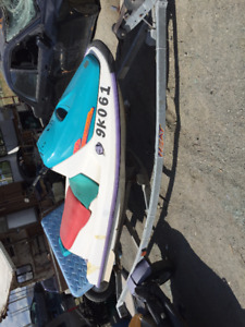 trailer with regy and new wheel bearings and seadoo