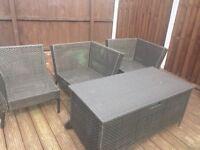 IKEA like new Brown Rattan Garden Furniture Set