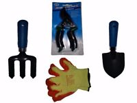 Garden Hand Tools Set Pruners Trowel Hand Fork & Garden Gloves 15% off was £8.99
