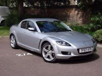 EXCELLENT SPEC! 2007 MAZDA RX8 192 PS ONLY 32000 MILES, FULL LEATHER, BOSE SYSTEM LONG MOT WARRANTY