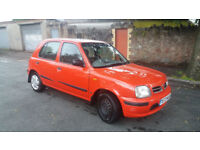 1999(T)NISSAN MICRA 1.2 GX AUTOMATIC RED,LONG MOT,GOOD RUNNER,SPARES OR REPAIRS