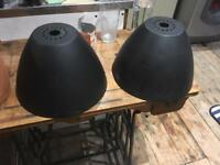 Two metal light fittings / lamp shades £5