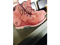 Burgundy Timberland boots 6