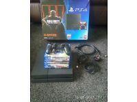 PS4 500GB (matt version) + games