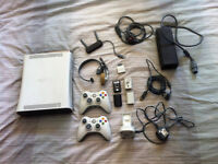 Xbox 360 + 22 games, 2 controllers + lots more extras