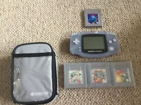Game Boy Advance with 4 games