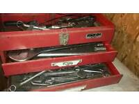 Spanners sockets tool box