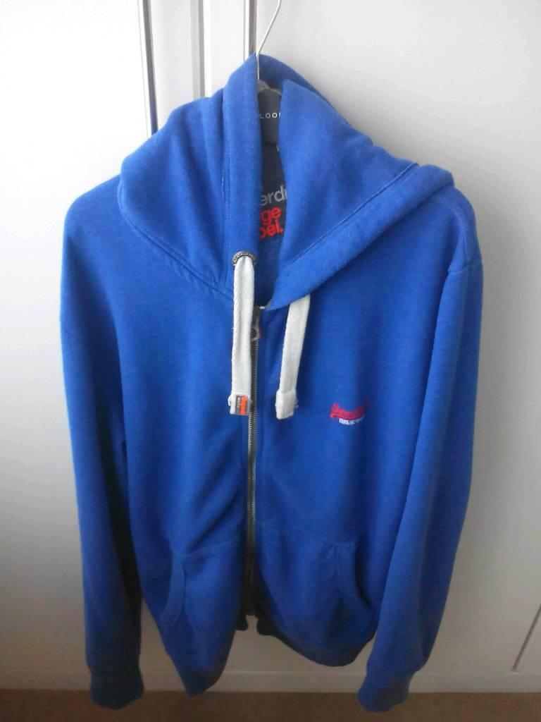 0118f9c6cf3c Mens superdry blue hoodie size XXL. North Shields