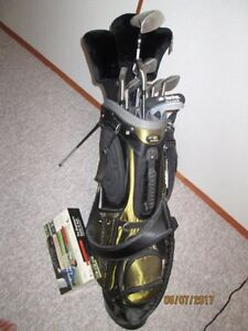 Golf Clubs and Instructional Video Set